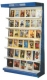 Wall Book Display Rack with Signage